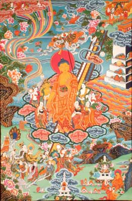 Buddha Shakyamuni Descending from Tushita Heavens to the Earth