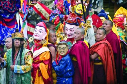 Guru Rinpoche Prozession in Zhemgang, Bhutan 2013 © Mareike Wulff