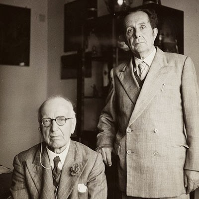 Portrait of Frederick William Thomas and Giuseppe Tucci, Rome in 1955. Photo 1285/1
