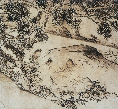 "Fig. 1: Detail, Ma Yuan, ""Four Sages of Mount Shang"" c. 1225 After Stephen Little, Taoism and the Arts of China (Chicago, 2000), 152-53. text and images © Jane Casey"