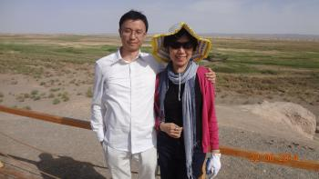Mrs. Mei-yin Lee, Special Researcher of Dunhuang Academy, with Raymond Lam, BDI Senior Correspondent. From Buddhistdoor International.
