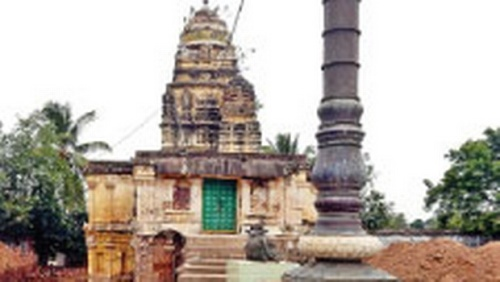 Bhimeswara Temple where the excavation was carried out at Chebrolu in Guntur district | EXPRESS PHOTO