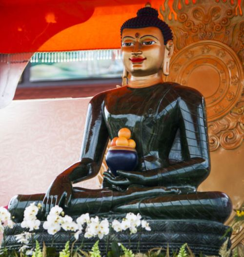 The Jade Buddha, a 4-ton, 8-foot statue carved of Canadian jade, will be on display at the Linh Quang Buddhist Center southwest of Lincoln until Aug. 24.