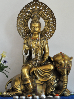 This Kuan Yin in the aspect of Samantabhadra came from China and is a beautiful presence in the Kuan Yin Room.