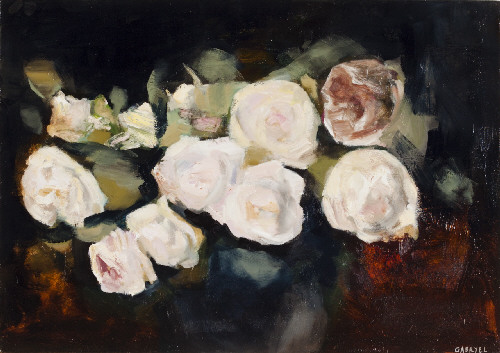 White Roses 1, 2014 Gabryel Harrison Oil on canvas 17 X 24 in.