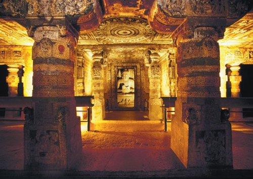 Massimo Borchi/Atlantide Phototravel/Corbis A statue of the Buddha in one of the Ajanta caves, India