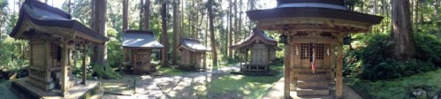 Shrines at the base of Mount Haguro.