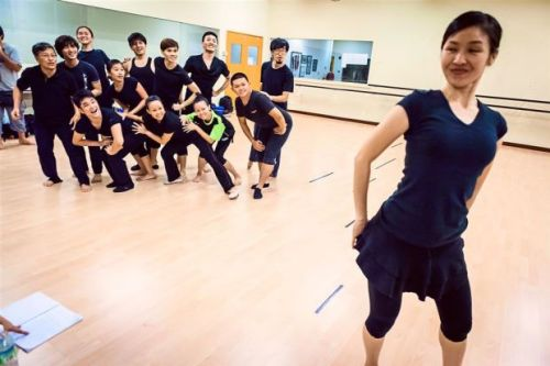 """The cast of Xuan Zang: Journey to the West - The Musical by Han Production at a rehearsal in Kuala Lumpur. Producer/director Yang Wei Han calls this English and Mandarin musical an """"epic production""""."""