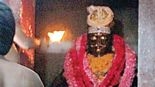 The main deity of Pandi temple in Madurai   Vajiravelu N