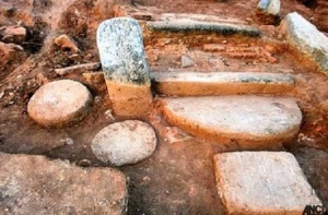 The remains of the ancient Buddhist Monastery unearthed at Sithulpawwa [Credit: Daily News]