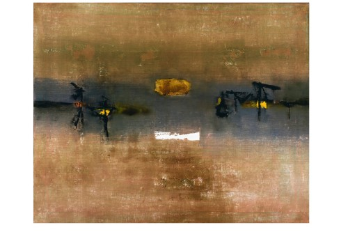 'Painting No. 4' (1962) by V.S. Gaitonde. THE MUSEUM OF MODERN ART/ART RESOURCE
