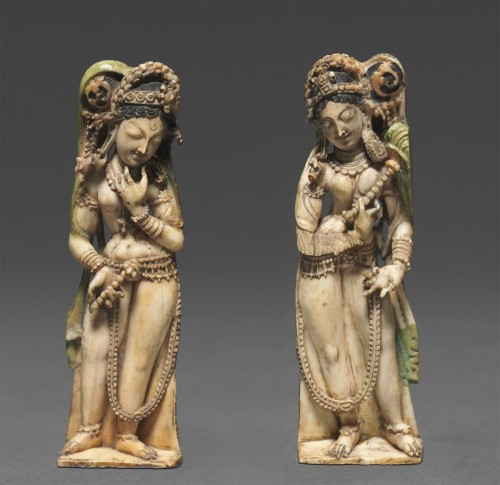 A Pair of Female Attendants Kashmir; 8th century Ivory | Cleveland Museum of Art/Courtesy of the Block Museum of Art A Pair of Female Attendants Kashmir; 8th century Ivory | Cleveland Museum of Art/Courtesy of the Block Museum of Art