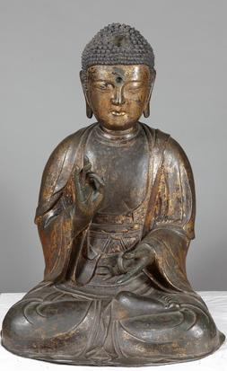Unknown Korean, Seated Amitabha Buddha, no date, gilt bronze, National Museum of Korea