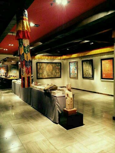 Exhibits on display at the Holy Images of the Ineffable Realm Thangka exhibition in Shanghai Photos: Courtesy of Shanghai Guanen Art