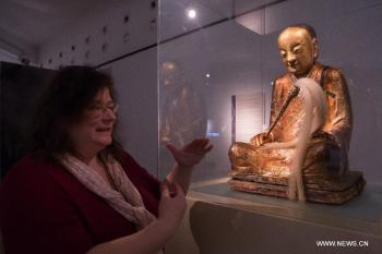 From Xinhua/Attila Volgyi A thousand-year-old Buddhist relic, believed to have been stolen from a temple in China in 1995, has been withdrawn from an exhibition at a museum in Budapest.
