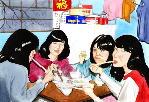 "Ka Yan Cheung's ""Share"" is among the more lighthearted works on view in ""Hungry Ghosts."" - COURTESY PHOTO"