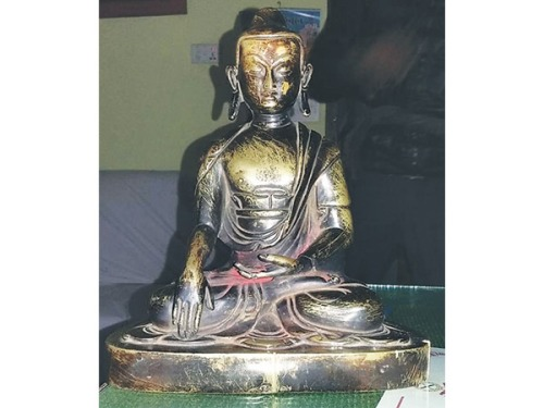 The statute is believed to be around 300 years old The statute is believed to be around 300 years old Photo by : Post Photo