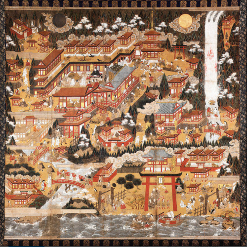 Nachi Pilgrimage Mandala, Japan, Edo period, 16th–early 17th century; hanging scroll, ink, colors, and gold leaf on paper, 59 x 59 1/2 in.; The Frances Lehman Loeb Art Center, Vassar College, Pratt Fund and Betsy Mudge Wilson, Class of 1956, Memorial Fund, Purchase, 2004.10.