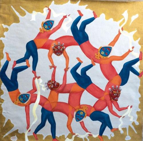 "Tashi Norbu's Circle of Khataks suggests the performance of ""Tibetanness."""