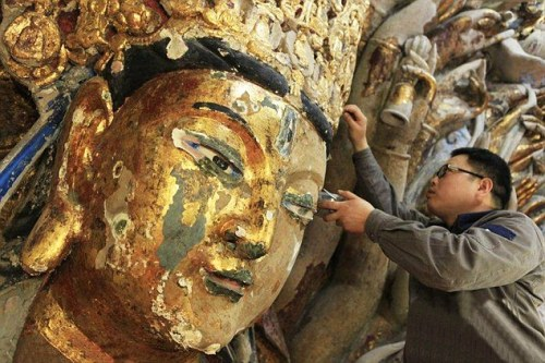 The most comprehensive restoration of the 7.7m high and 12.5m wide statue took eight years to complete
