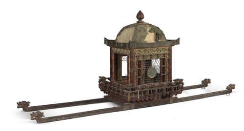 Palanquin for the infant Buddha made in 1670 Director Kim Young-na says the exhibition is more than just a study of religion.