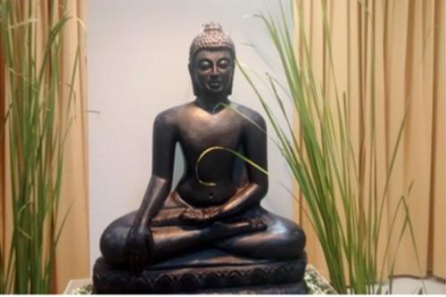 Buddha statue at Buddha Carika exhibition. (Indian Embassy)