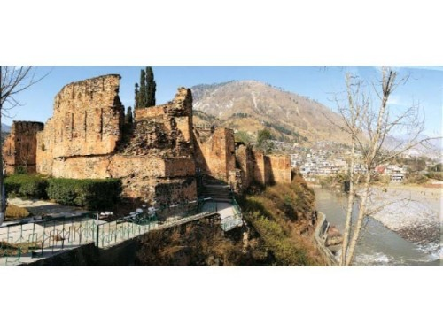 The remains of the Red Fort in Muzaffarabad, Azad Jammu and Kashmir. PHOTO: FILE