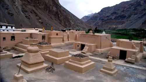 The 11th century Tabo monastery is also known as the Ajantas of the Himalayas. HT Photo