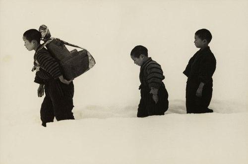 Hiroshi Hamaya: New Year's Visit with Jizo, Niigata Prefecture, 1940