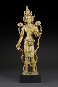 Padmapani, Central Tibet, 12th Century, 19.5 Inches.