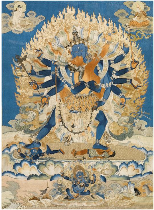 Qing dynasty Tibetan Thangka (18th century) Photo: Sotheby's
