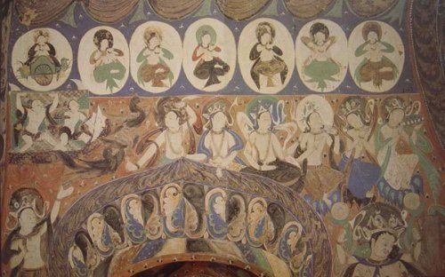 A fresco in Cave 285 of China's Mogao Grottoes. [Photo: public.dha.ac.cn]