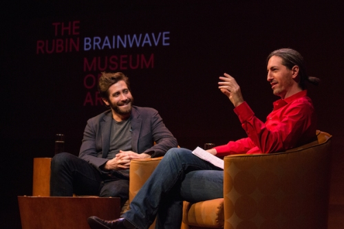 In 2015, neuroscientist Eric Cerf (right) discussed dreams with Jake Gyllenhaal. This year, Cerf returns to talk emotional politics with Anthony Weiner. Photo courtesy Rubin Museum of Art.