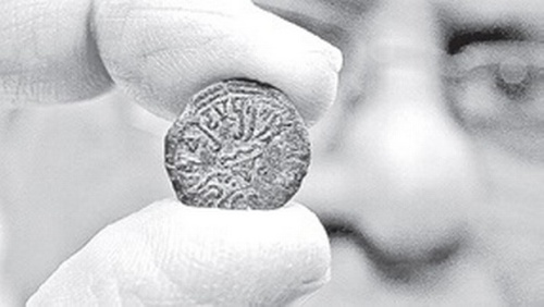 A third century Potin coin exacavated from a Mahastupa in Phanigiri hillock of Nalgonda district | FILE photo