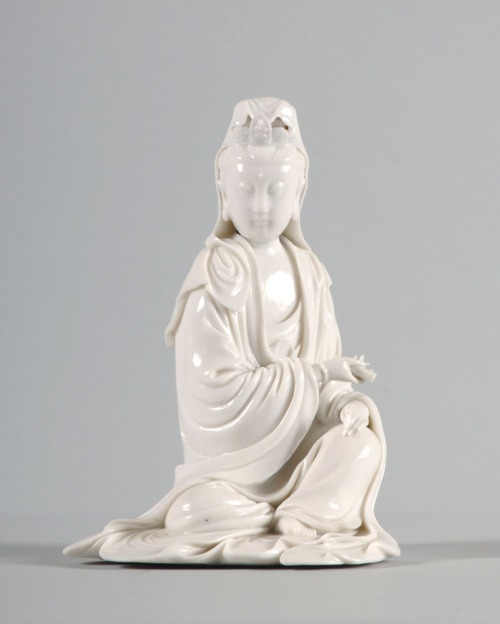 LI1301.398 Bodhisattva Guanyin, China, 18th-century, Blanc-de-Chine porcelain, 22 x 16.7 x 14.5 cm, Lent by the Sir Alan Barlow Collection Trust © The University of Sussex