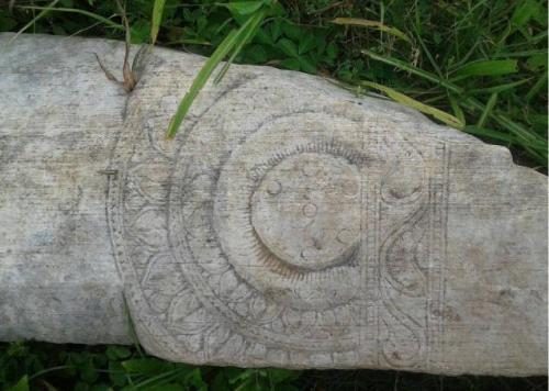 INTERESTING FIND: A fragment unearthed at Ghantasala in Krishna district. Photo: Special Arrangement