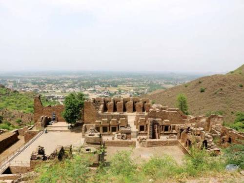 The ruins of the Buddhist monastery in Takht Bhai in Mardan. PHOTO: EXPRESS